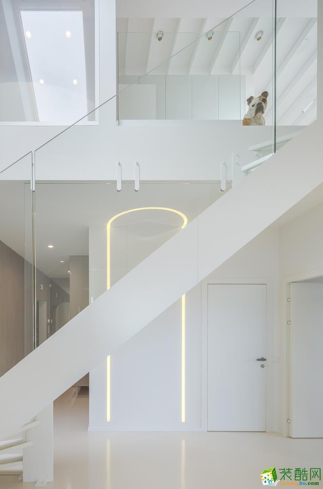 90平米现代风格艺术公寓,简约白色