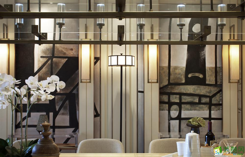 金螳螂家-華豐星城128平新中式風格裝修效果圖_中式風格-三室兩廳兩衛