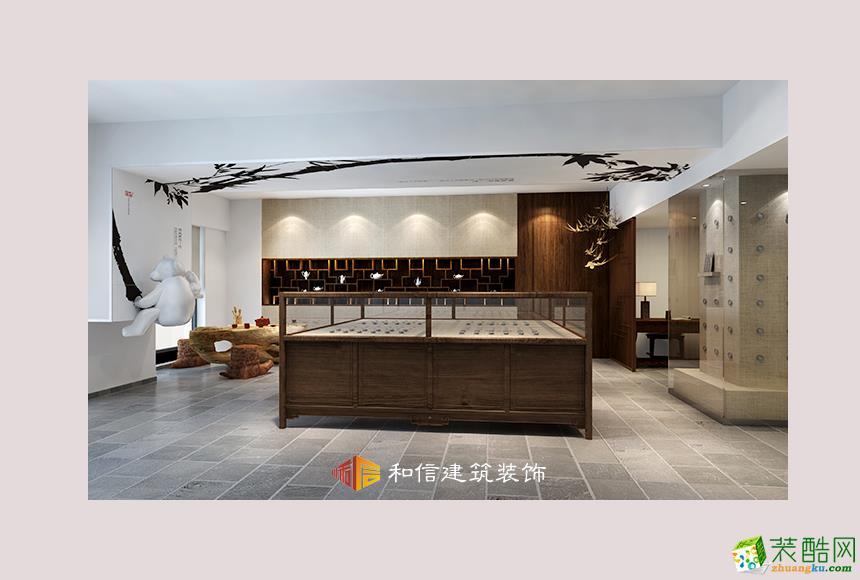 成都展厅装修设计公司-银韵盛宴金牛万达展厅500平中式风格