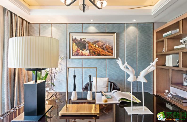岳阳自在天装饰-100平米三室混搭风格装修效果图