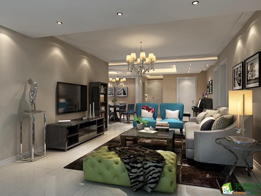 大连四室两厅-162平米现代简约装修风格效果图-宜美家装饰