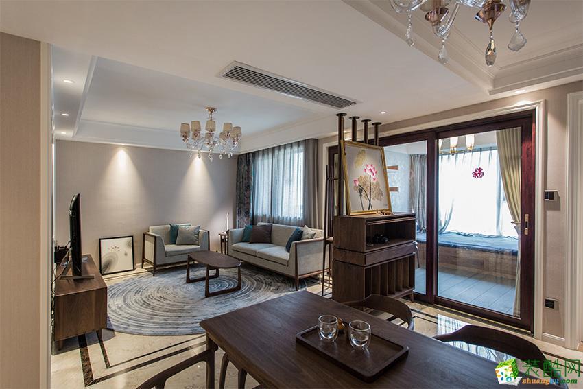 大連三室兩廳-108平米混搭風格裝修效果圖-宜美家裝飾
