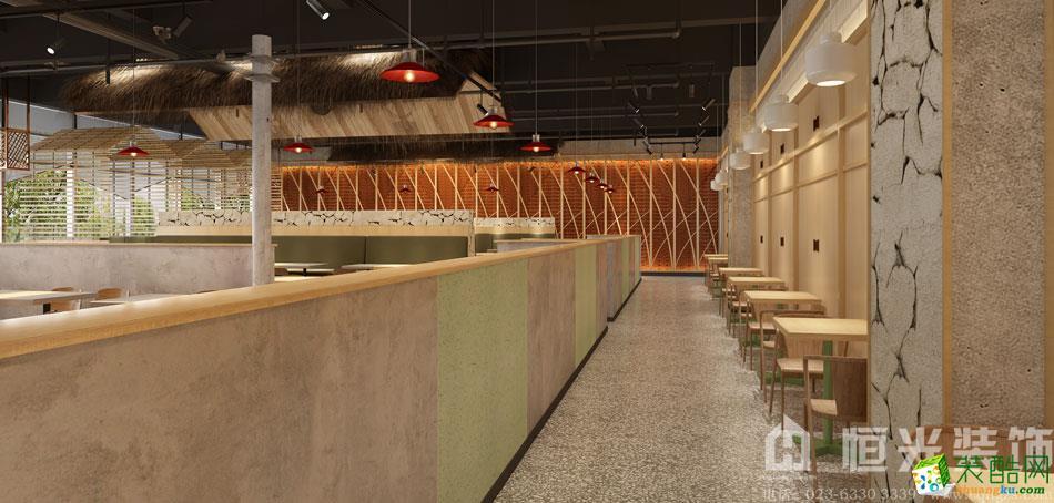 600平米现代风格食堂装修案例图片-恒光装饰