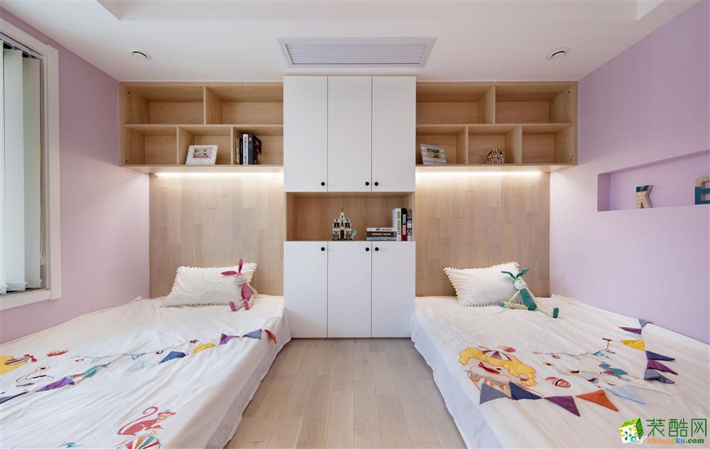 几何原本90平三室一厅一卫中式风格装修图片