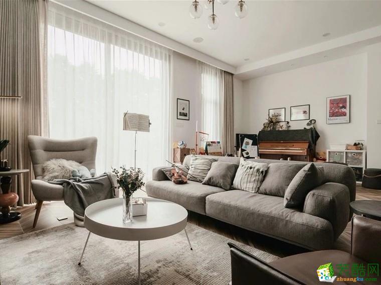 大连四室两厅-200平米北欧简约风格效果图-蜂巢装饰