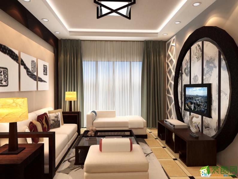 抚州溢多多装饰-120平米三室中式风格装修效果图