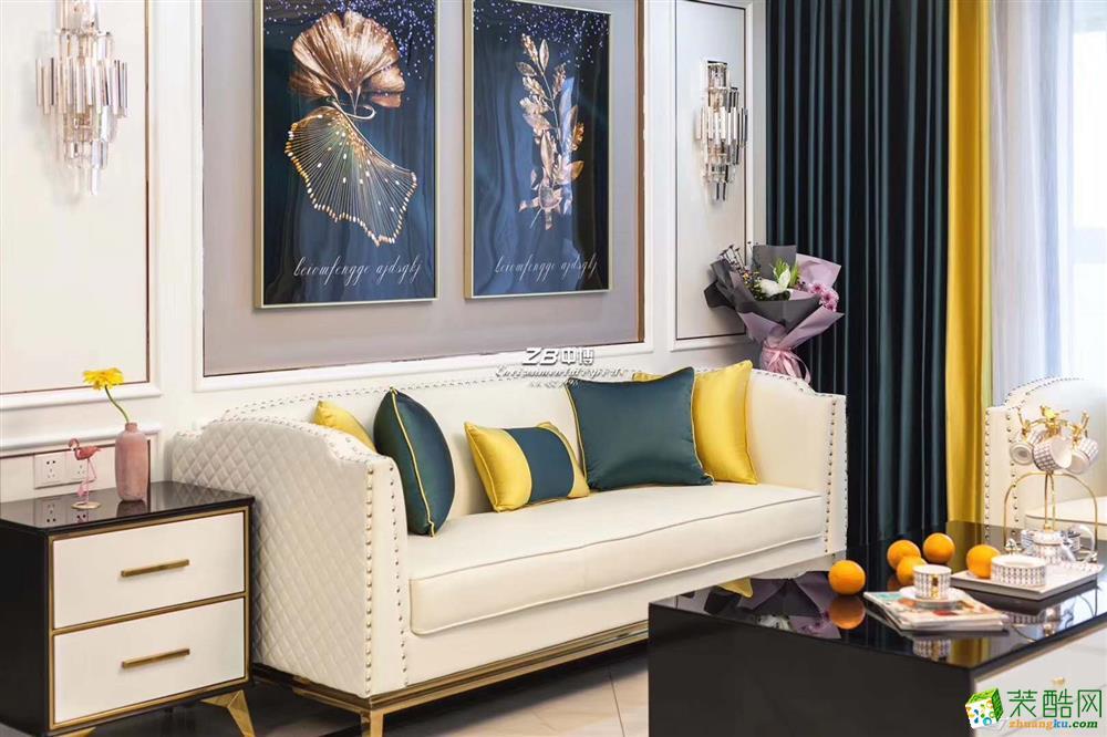 中博装饰-丽郡国际135㎡轻奢风格全案设计作品