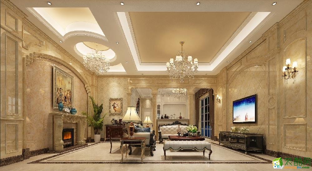 广州四室两厅-250㎡简约装修风格效果图-匠欣装饰