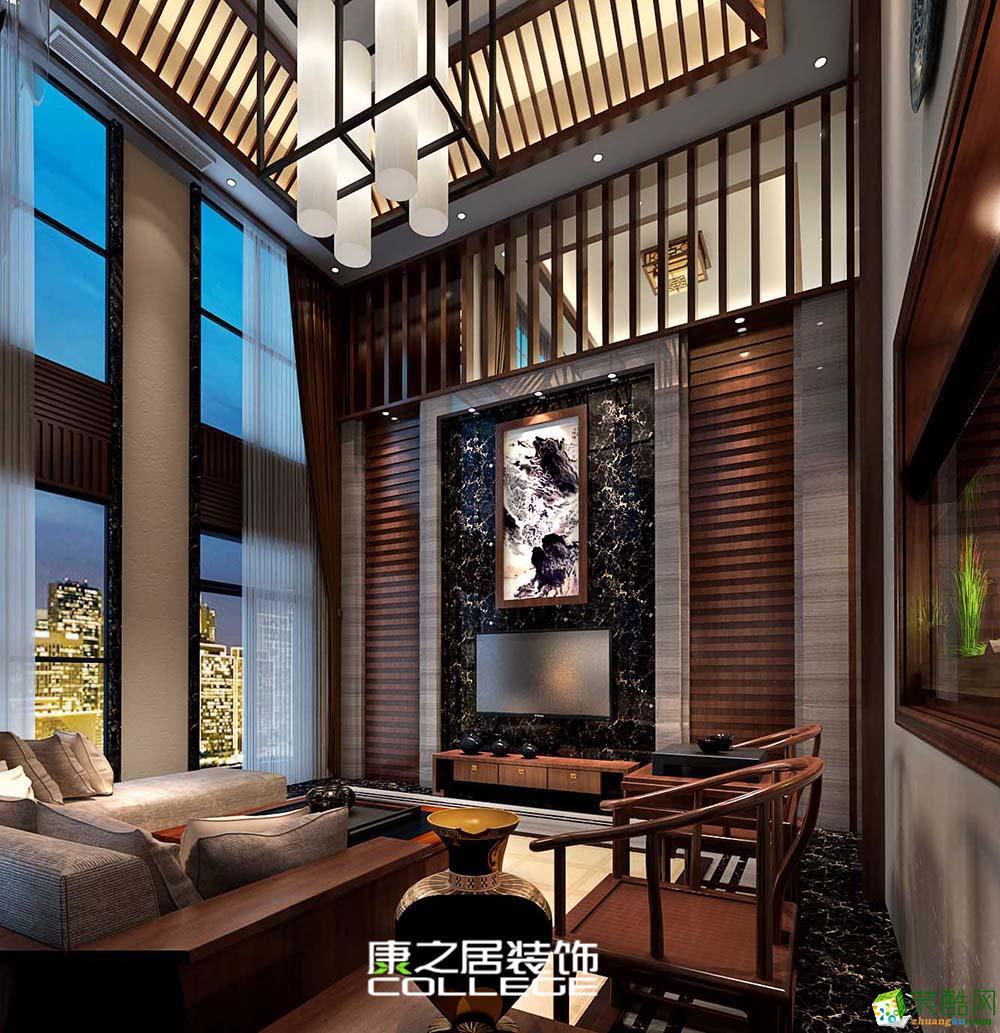 公元九珑洋房218平米大户型装修中式设计效果图案例