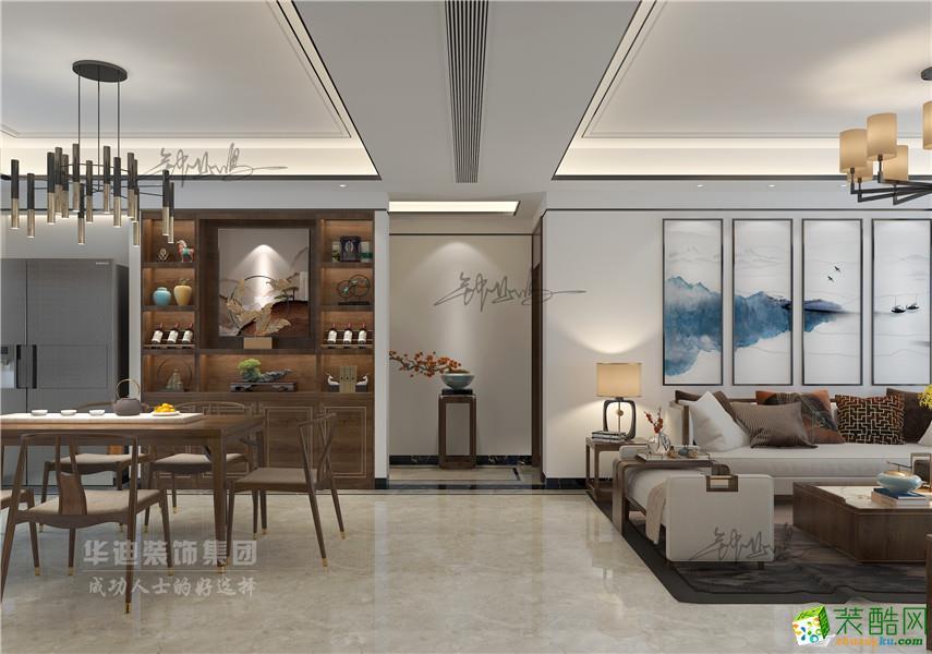 高速时代公馆三室两厅一卫新中式风格作品