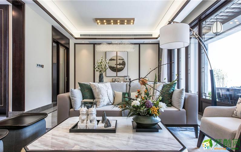 苏州192平新中式风格三室两厅两卫设计作品