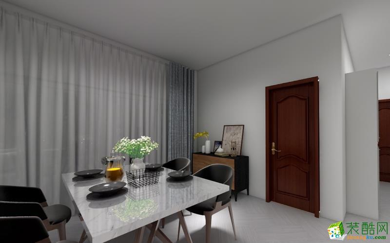 武汉138平方北欧三室一厅装修设计作品