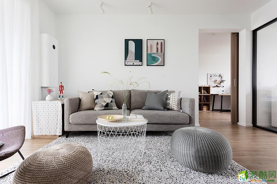苏州90平三室一厅日式风格装修设计效果图