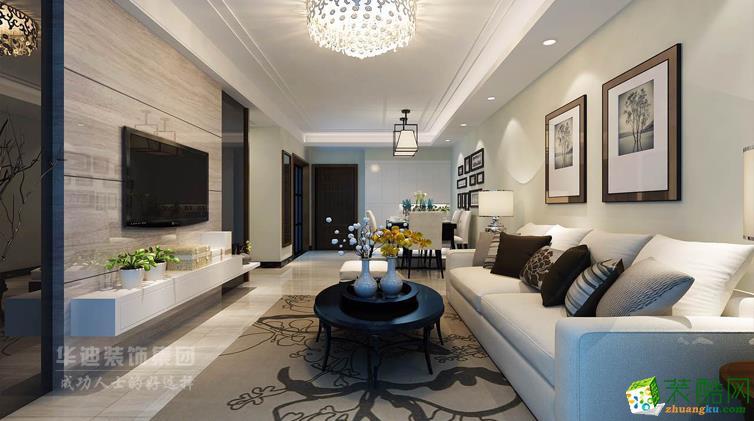 合?#39280;?#29615;城和雅阁三室一厅一卫简约风格设计作品