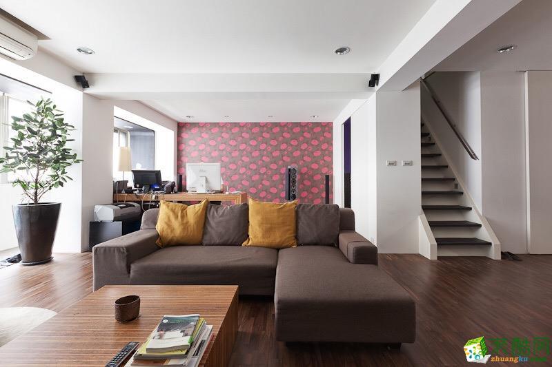 蒙自三室两厅美式120平装修效果图