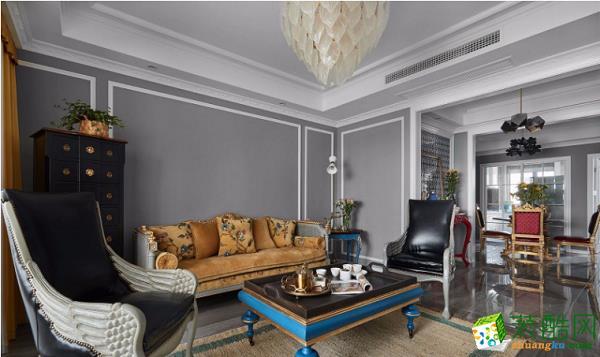 蒙自紫苹果装饰105平混搭三居室装修效果图