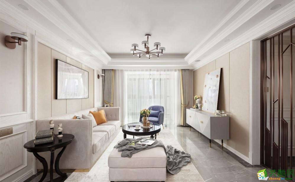 瑞日嘉园120平美式轻奢风--低调中的奢华_美式风格-三室两厅两卫