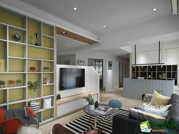 89平米三室一厅北欧风格装修案例图片_北欧风格-三室一厅一卫