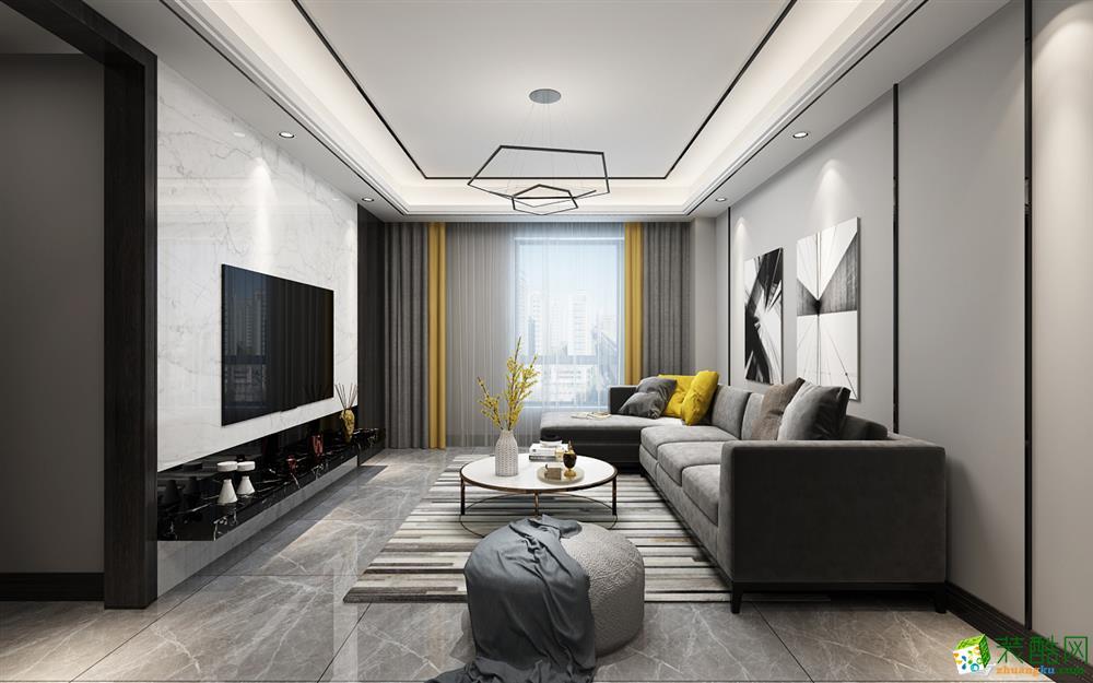 70平米现代简约风格三室一厅装修案例图片