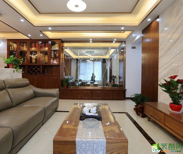 113平米现代风格三居室装修效果图