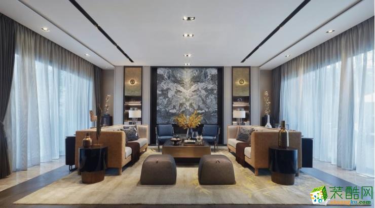 90平米三居室混搭风格装修案例