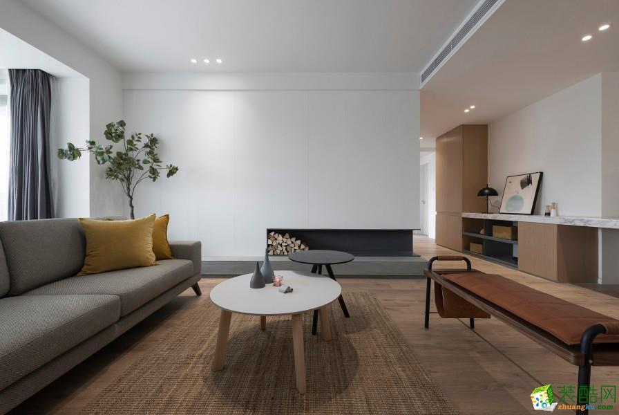 广州三室两厅-157㎡北欧极简装修风格效果图-?#20004;?#35013;饰