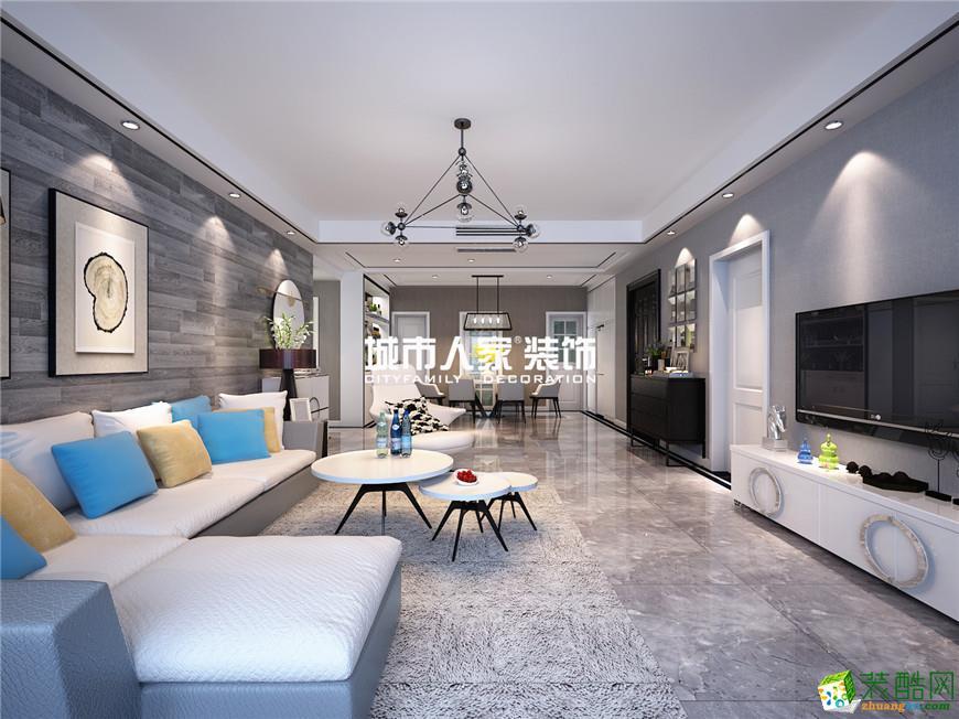 华远海蓝城130平米简约风格案例分享