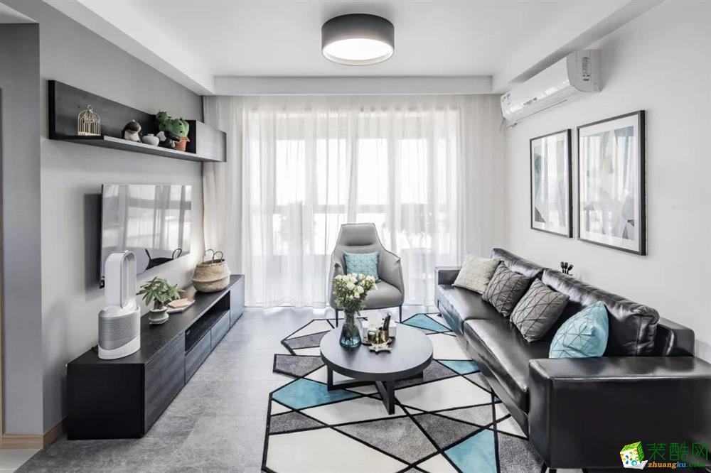 90平两居室现代简约装修 时尚有质感!