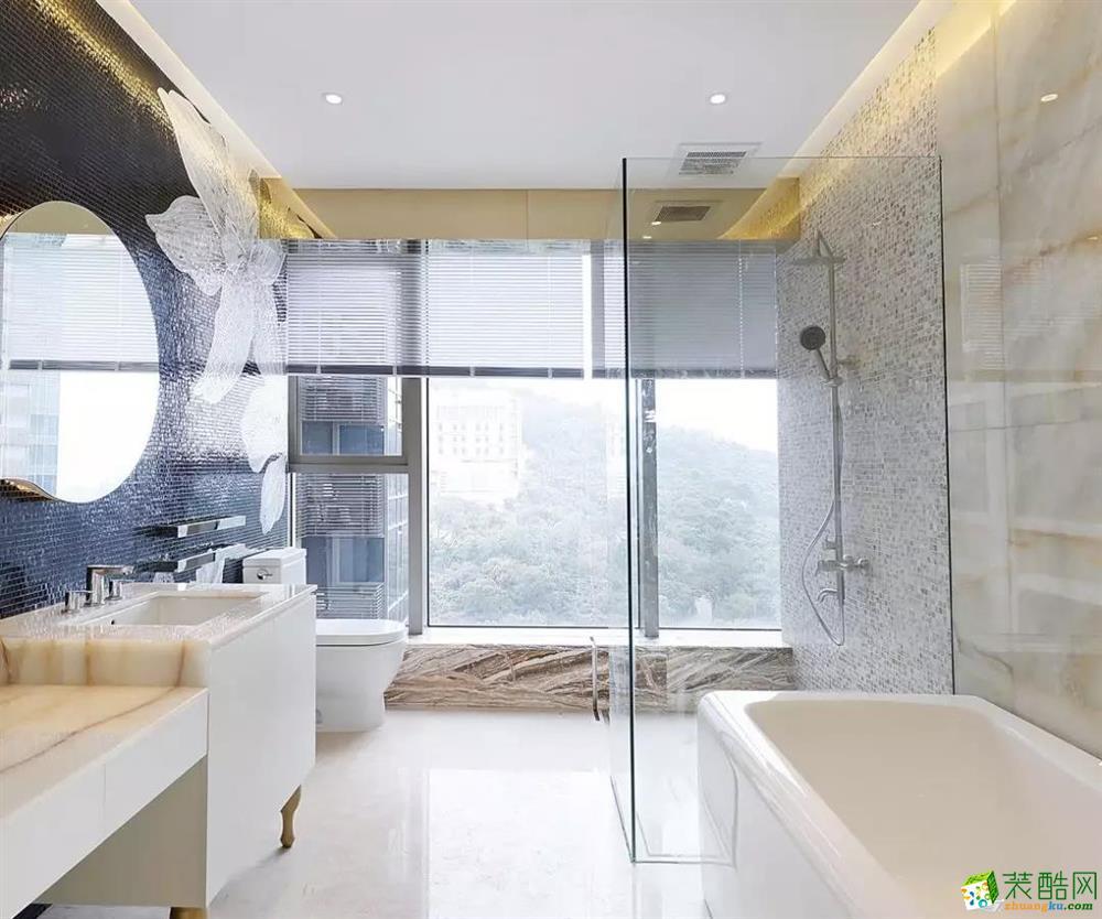 138㎡现代欧式三居室,轻奢有度
