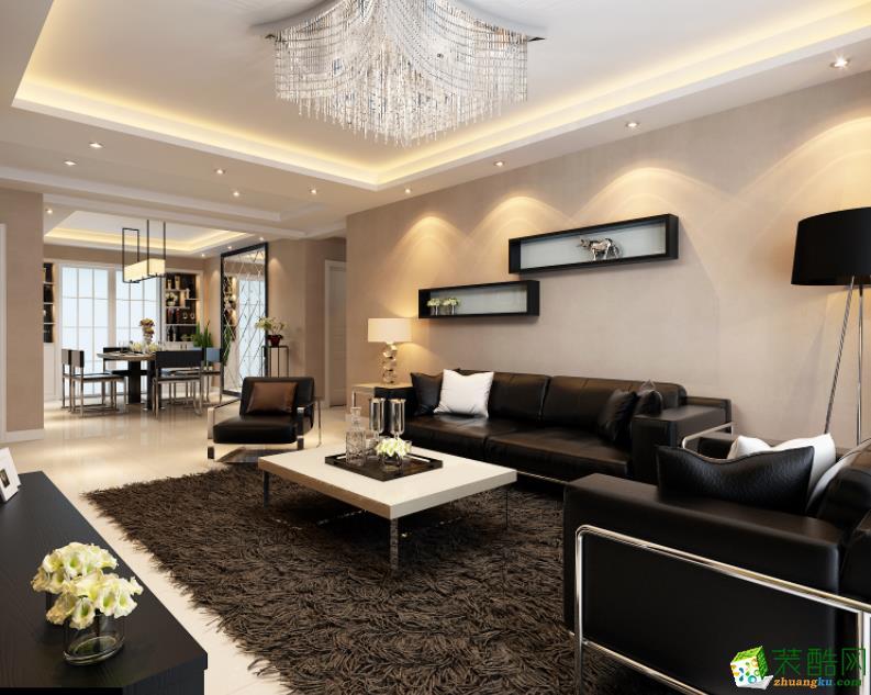 撫州120平3室簡約風格裝修效果圖-撫州美星裝飾