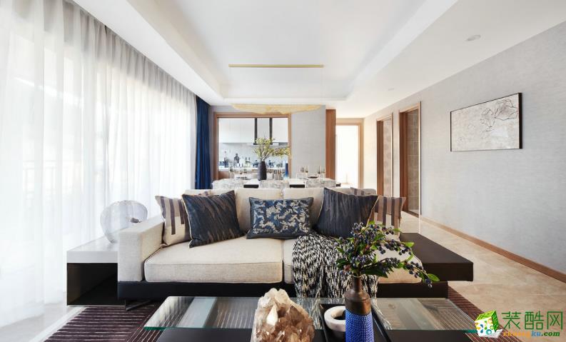 撫州102平3室現代風格裝修效果圖-撫州美星裝飾