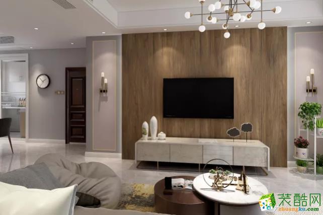 青島三室一廳-116㎡現代簡約裝修風格效果圖-潤彩飾家裝飾