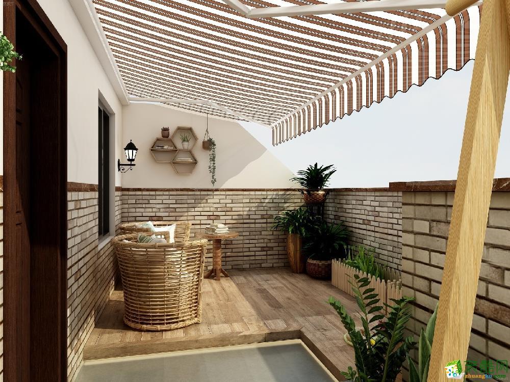 青岛跃层二楼-40㎡现代简约装修风格效果图-润彩饰家装饰