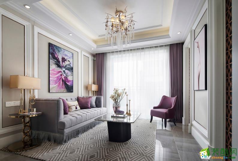 乐山127㎡三室法式风格装修效果图-盛世领域装饰