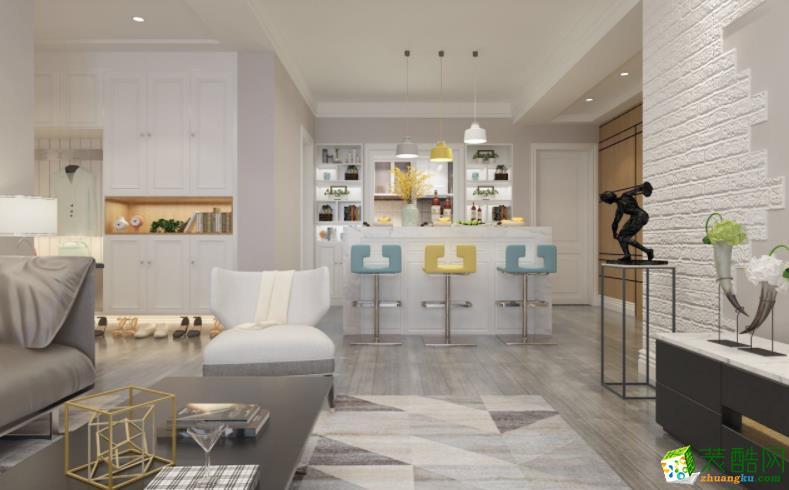 樂山106㎡三室現代風格裝修效果圖-盛世領域裝飾