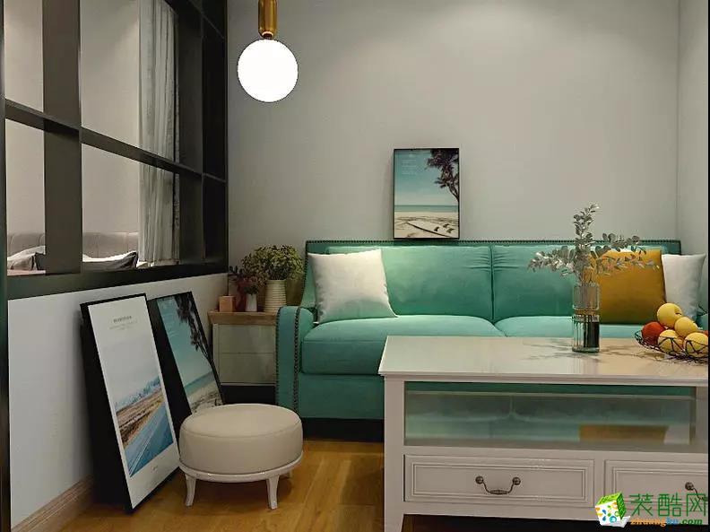 38�O小户型一居室变两居 清雅温馨收纳强