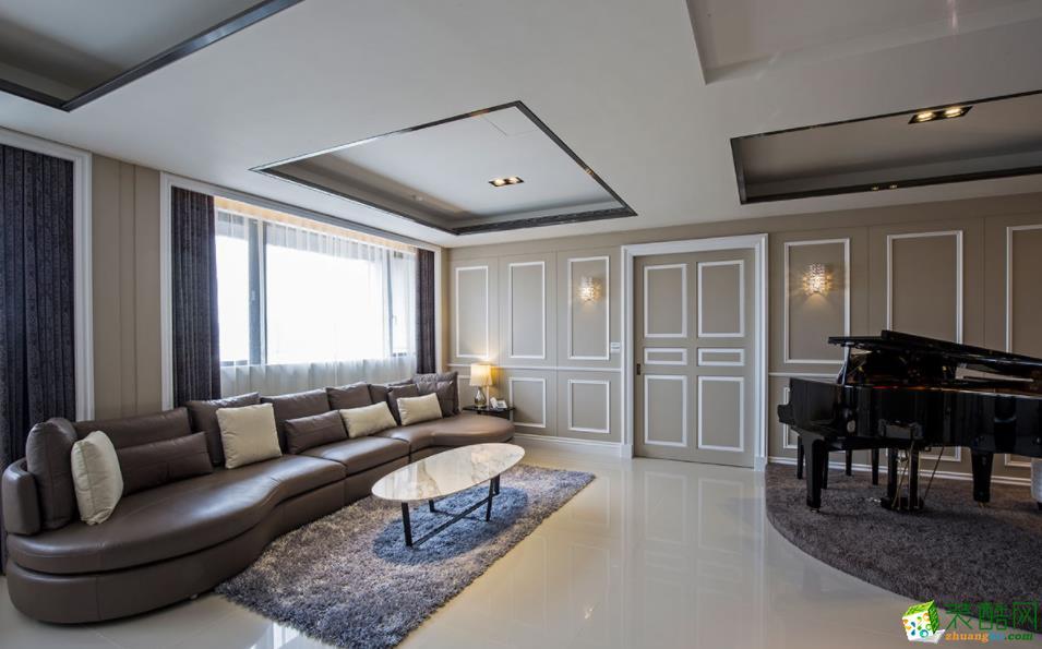 南阳125平3室古典风格装修效果图-南阳鸣仁汇装饰