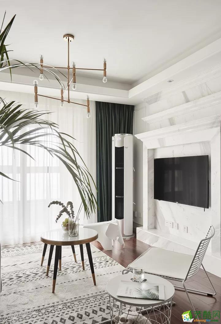 青岛三室一厅-89㎡北欧极简装修风格效果图-益群装饰