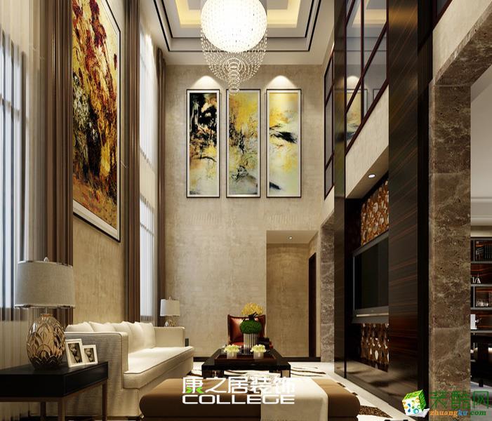260平象湖瑶池公寓新古典设计装修案例风格家居设计案例