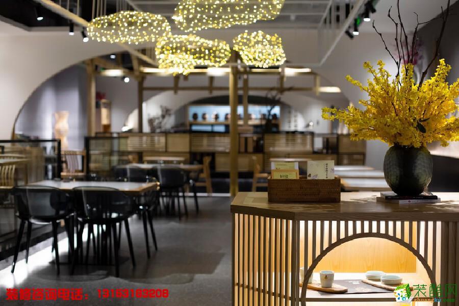 临沂新中式装修设计风格酸菜鱼店,在这吃鱼感觉不一样