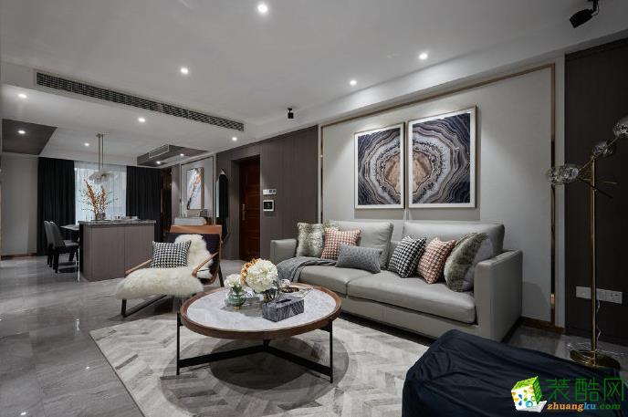 深圳109平米三居室新中式风格装修案例