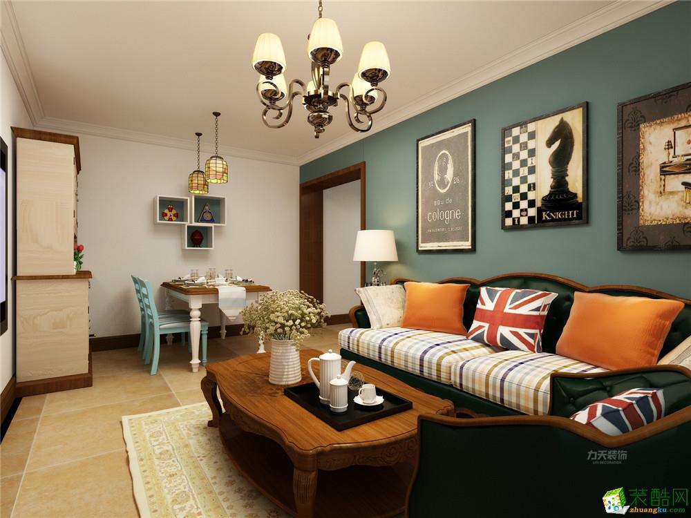 力天装饰 龙湖公寓 80平米美式风格
