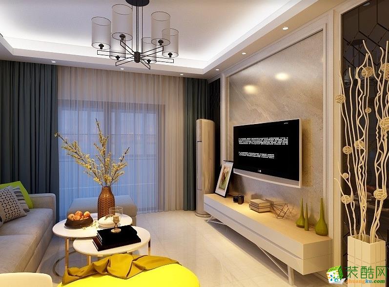 阜陽幸福家園102㎡3室現代簡約風格裝修效果圖-阜陽全藝裝飾