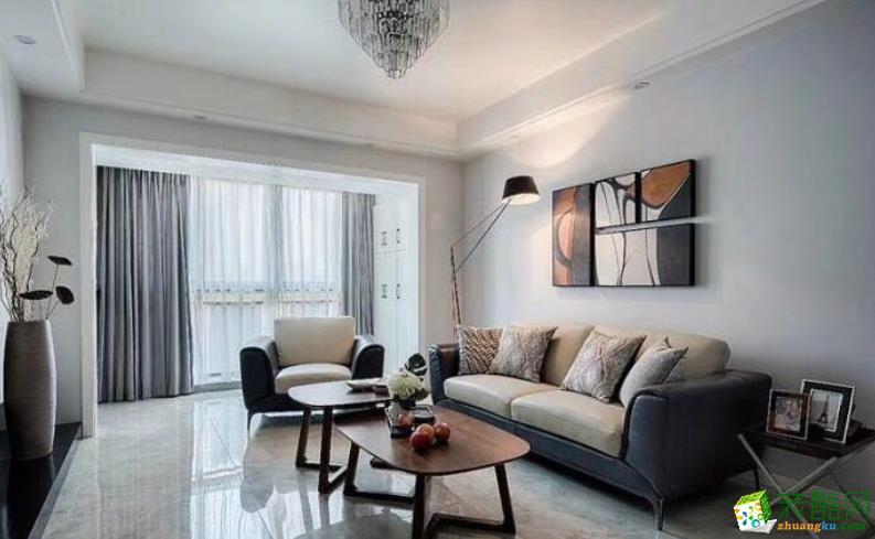 阜陽麗豐一品90平三室現代簡約風格裝修效果圖-阜陽全藝裝飾
