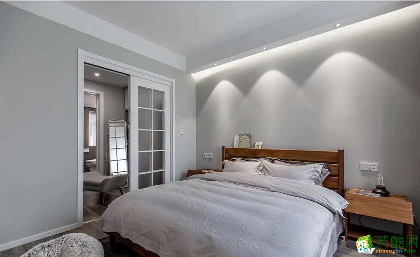 遵義95平米三房簡約風格裝修案例