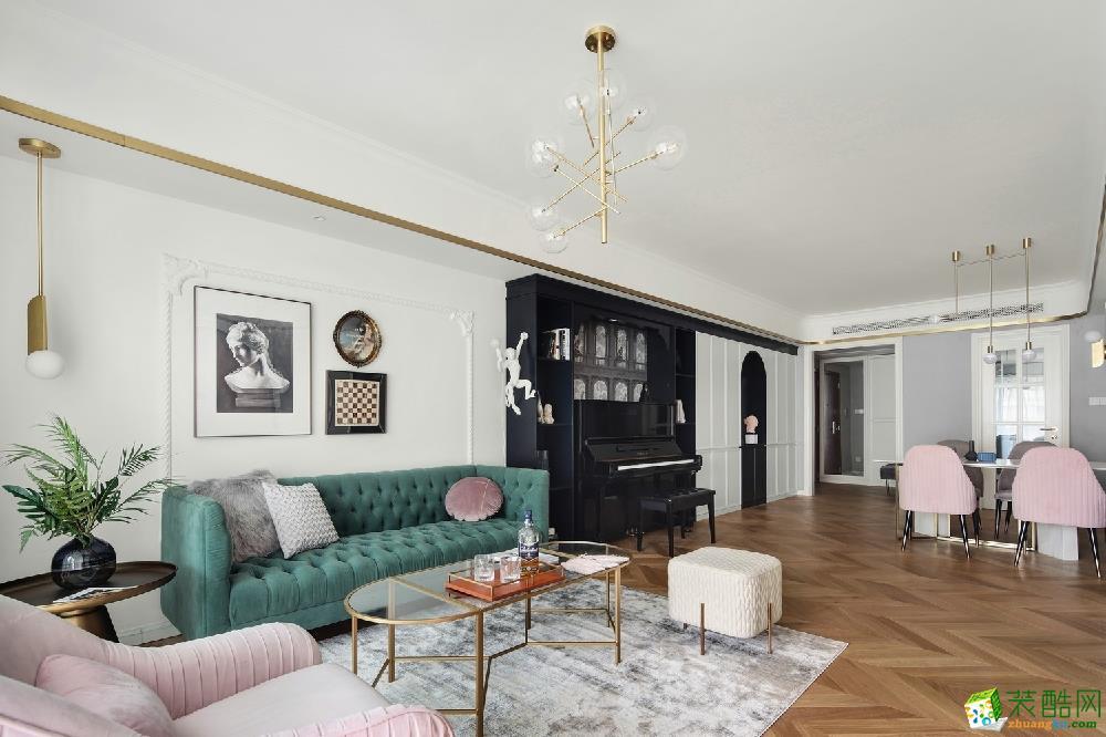青島三室兩廳-150㎡現代輕奢裝修風格效果圖-博藝居裝飾
