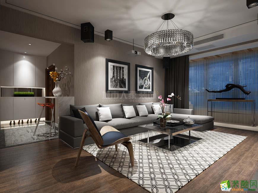 曲江紫薇意境130平米现代风格装修案例分享