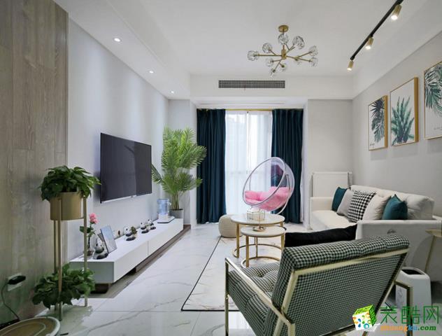 青島三室一廳-88㎡現代簡約裝修效果圖-信航裝飾