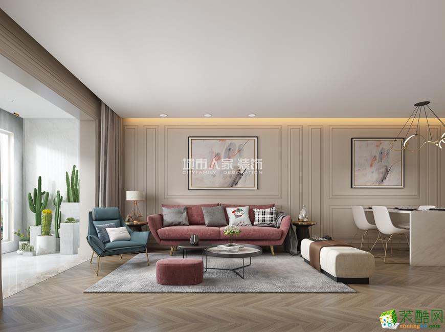 華著中城139平米躍層現代簡約裝修風格