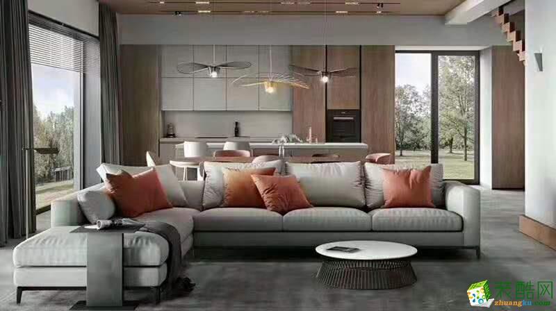 【一米居装饰】236㎡现代极简风格别墅作品